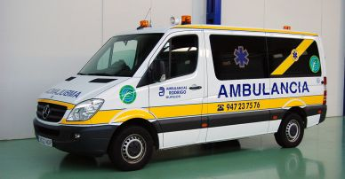 Ambulancia transporte colectivo